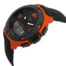 tissot t race touch black dial orange rubber mens watch tissot