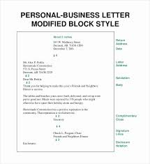 Letterhead Business Letter Business Letter Block Format With Letterhead Personal Business