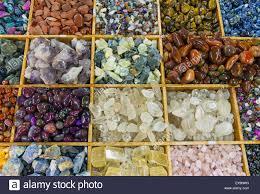 A Variety Of Colourful Semi Precious Stones Stock Photo
