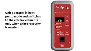 geospring hybrid electric heat pump hot water heater ge appliances hybrid mode