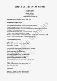 online tutor sample resume cipanewsletter sample of nursing tutor resumeexamples resume objective examples