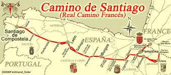 a mused el camino de santiago a map of the pilgrimage Camino De Santiago Map el camino de santiago a map of the pilgrimage route to santiago de campostela, known camino de santiago mapa