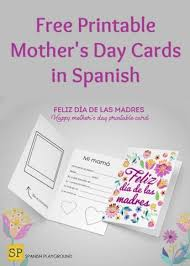 Print A Mother S Day Card Online Mothers Day Archives Spanish Playground