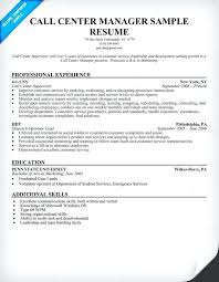 sample objectives in resume for call center agent call center manager resume  sample sample resume call