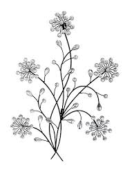 >primus floral metal diamante ice droplet wall art for indoor  primus floral metal diamante ice droplet wall art for indoor outdoor use