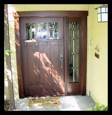 front door with one sidelightHeart of Oak Workshop Authentic Craftsman  Mission style Door