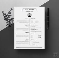 Minimalist Resume Template 5 Minimal For Word 1 2 Page Cv Icon Set