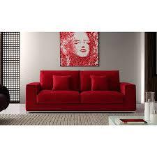 red velvet sofa. Red Upholstered Velvet Fabric Covered Corner Sofa
