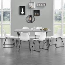 Details Zu Encasa Esstisch 160x75cm Küchentisch Esszimmer Tisch Hairpin Legs Beton Optik