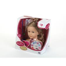 Klein - Tête à coiffer et à maquiller Princess Coralie (33 cm) - 5240 -  Maquillage et coiffure - Rue du Commerce