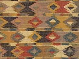 tribal area rug flat weave tribal pattern jute red multi area rug