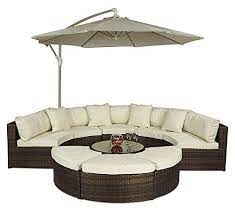 monaco rattan garden furniture large