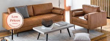 modern leather sofas and armchairs