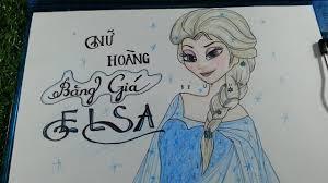 Vẽ và tô màu Elsa - Nữ hoàng băng giá/How To Draw Elsa **NEW**/