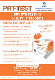 Phenol Red Colour Chart Prt Test Phenol Red Thread Tear Tests Ophthalmic Data