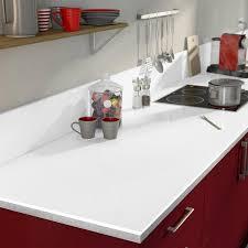 Plan De Travail Stratifié Blanc Brillant Brillant L315 X P65 Cm