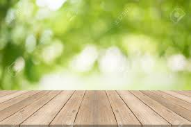 Free Green Background Empty Wood Table Top On Blurred Abstract Green Background Free