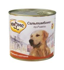 """<b>Мнямс консервы</b> для собак: телятина с ветчиной """"<b>Сальтимбокка</b> ..."""