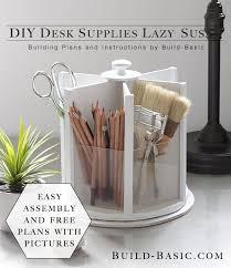 simple diy office ideas diy. Build This Easy DIY Desk Supplies Lazy Susan For Under 20 Free Building Plans By Simple Diy Office Ideas R