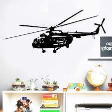 Nieuwe Militaire Helikopter Patroon Muurstickers Home Decoratie