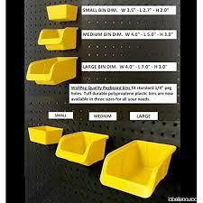 Pegboard storage bins Garage Storage Wallpeg Pegboard Bin Kit Pegboard Parts Storage Bins Organizer Large Size Bins B077qytfdr Vexxthegamecom Wallpeg Pegboard Bin Kit Pegboard Parts Storage Bins Organizer Large