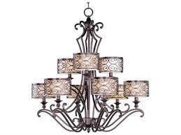 maxim lighting mondrian umber bronze nine light 34 wide chandelier
