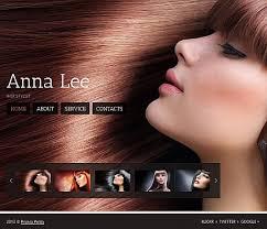 Hair Saloon Websites Website Templates Anna Lee Hair Salon Custom Website Template Anna