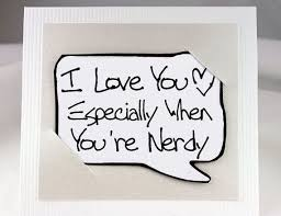 Nerdy Valentines Day Card Nerdy Geekery Quote Card Yellow Love You Best Nerdy Love Quotes