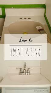 bathroom sink diy reglaze bathroom sink how to paint a sink before after diy reglaze