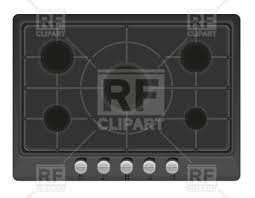 gas stove top. surface for gas stove - top view, 55334, download royalty-free vector i