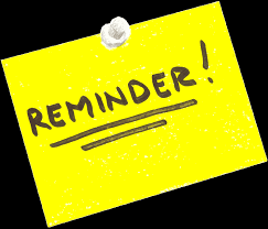 Image result for reminder clipart free