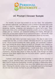 uc personal statement prompt answer look into our uc personal statement prompt example
