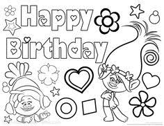 30 Best Happy Birthday Coloring Pages Images In 2019 Coloring