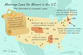 States Age Of Consent Chart Legal Age To Marry State By State