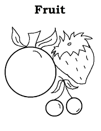 Fruit Coloring Pages Pictures In Fruit Coloring Pages Coloring