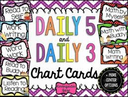 Daily 5 Pocket Chart Cards Daily 5 And Daily 3 Chart Cards Math Ideas Daily 5