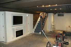 Unfinished basement ceiling paint White Painting Exposed Basement Ceiling Best Exposed Basement Ceiling Home Design With Paint Unfinished Paint Unfinished Basement Painting Exposed Basement Gothumorinfo Painting Exposed Basement Ceiling Open Ceiling Basement Exposed