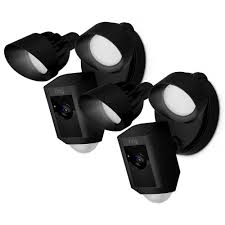 Ring Flood Light Home Depot Ring Outdoor Wi Fi Cam With Motion Activated Floodlight Black 2 Pack