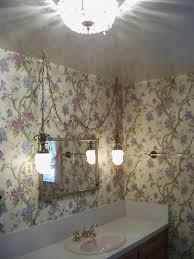 vintage original bathroom 1957 swag hanging lights wallpaper phoenix arizona home house