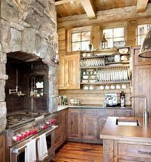 Ski Lodge Hideaway In Montana Boasts Gorgeous Mix Of Rustic And Industrial Rustic Kitchen Design Cabin Kitchens Rustic Kitchen