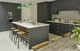 Dark grey kitchen shaker style kitchen design - bespoke country kitchen  range by Brayer Design