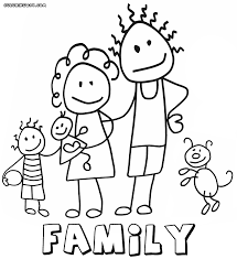 Family Coloring Pages Disney Coloring Pages