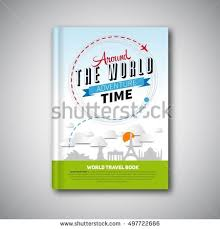 world travel book template design can be used for book cover magazine cover