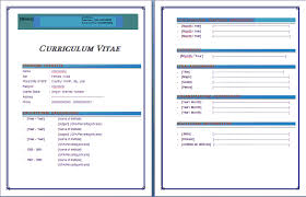 Curriculum Vitae Formats In Ms Word Download Cv Format In Ms Word Cv