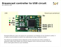 dreamcast controller to usb adapter also since my multiuse pcb2 is well suited for this project here is a wiring diagram using it
