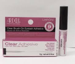 ardell lashgrip clear brush on natural eyelash adhesive review