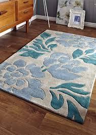 think rugs modern beige blue fl rugs hk33l
