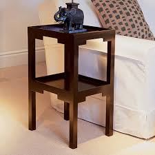 Wooden Side Table Kyoto Dark Wood Two Tiered Side Table Oka