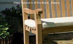 White 2 Seat Bench Cushion