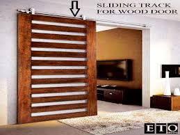 Exterior sliding barn door kit, bypass door track and hardware ...